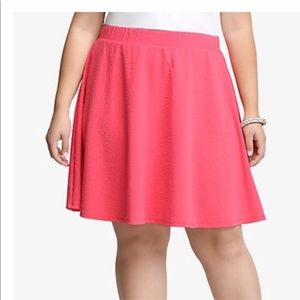 Torrid 2 Rose Textured A-Line Skirt